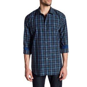 Bugatchi Men Shape Fit Button Down Dress Shirt